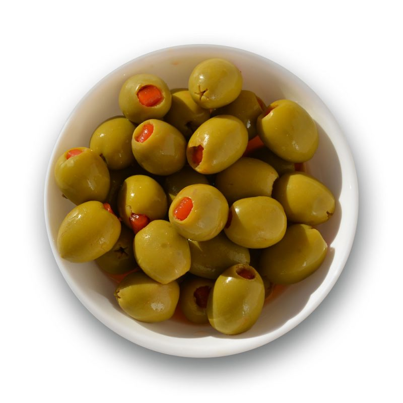Aceitunas picantes con sabor a Berenjenas de Almagro